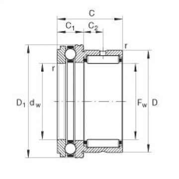 FAG Nadel-Axialkugellager - NKX40-XL