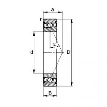 FAG Spindellager - HSS71909-E-T-P4S