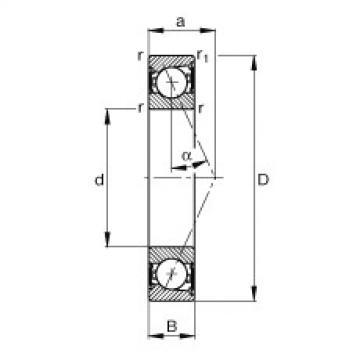 FAG Spindellager - B7020-E-2RSD-T-P4S