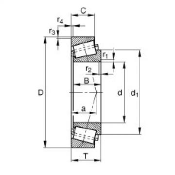 FAG Kegelrollenlager - T4CB055