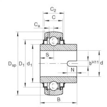 Bantalan GLE60-KRR-B INA