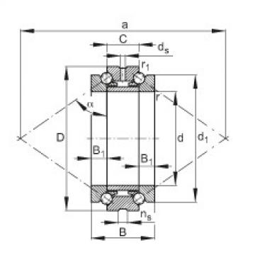 FAG Axial-Schrägkugellager - 234410-M-SP