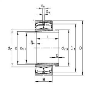 FAG Pendelrollenlager - 23028-E1-XL-K-TVPB + AHX3028
