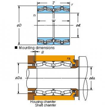 Four-row Original and high quality tapered roller bearings M276449D/410/410D