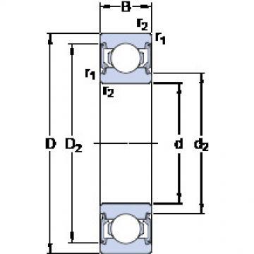 Bantalan 6001-2RSLTN9/HC5C3WT SKF