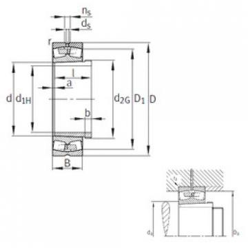 roulements 239/530-K-MB+AH39/530 FAG