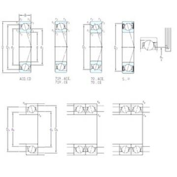 підшипник S7003 CE/P4A SKF