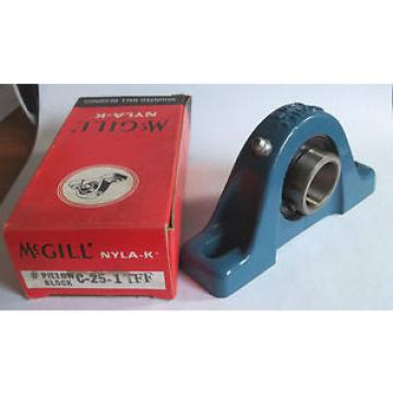 """McGill Original and high quality NYLA-K C-25-1 TFF Pillow Block Bearing for 1"""" Shaft"""