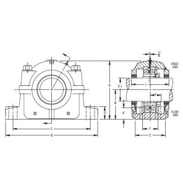 Timken Original and high quality  SAF 22544 7-7/8 Inch Tapered Bore Mounting Pillow Block SAF225 and SAF226 Series