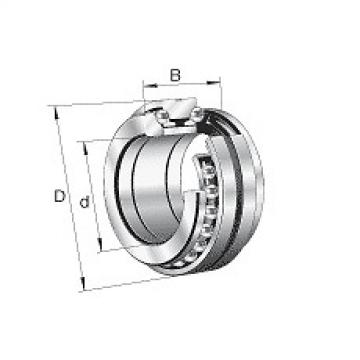 234432-M-SP Original and high quality Axial angular contact ball s 2344, double direction, sepa Fag Bearing