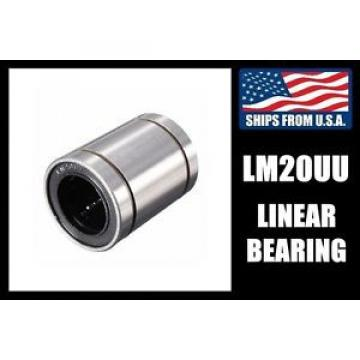 LM20UU Original and high quality Linear Bearing for 20mm Shafts, CNC Router/Milling Machine